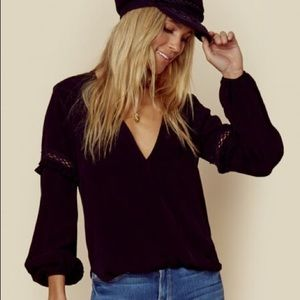 Black v neck gorgeous blouse from LA